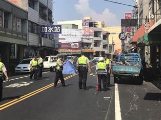 小貨車疑未注意路況 鹿港62歲翁遭追撞身亡
