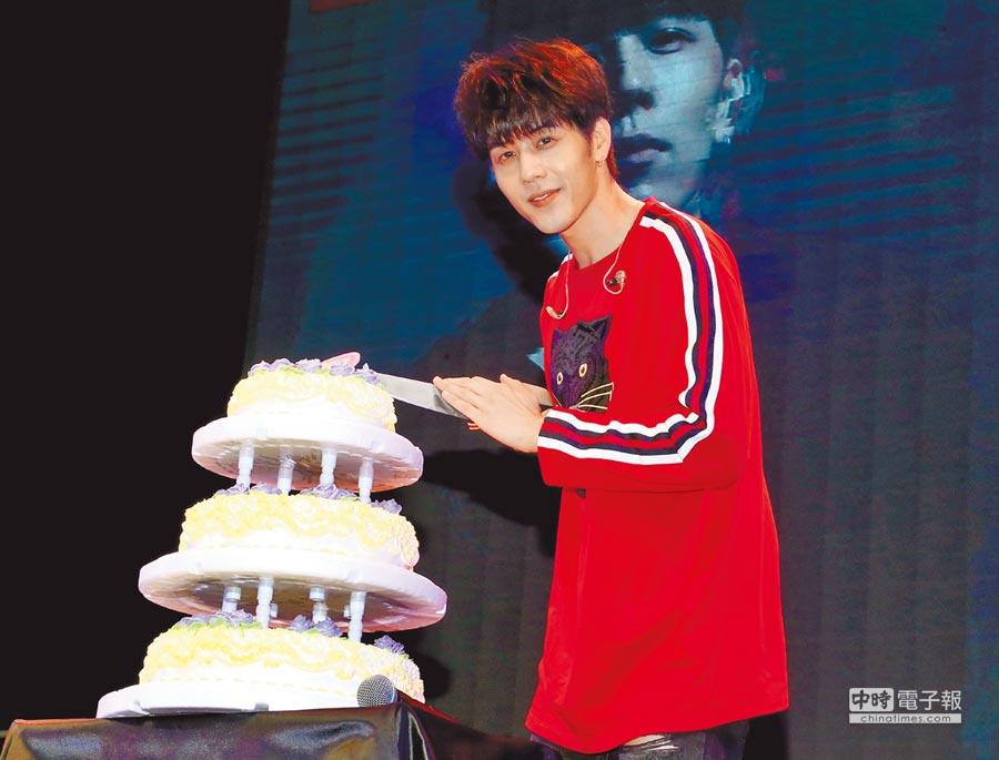 胡宇威昨提前與粉絲一起歡度生日。(粘耿豪攝)