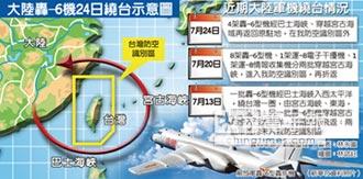 陸轟-6再繞台 國軍機艦監偵