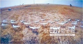 陸119架固定翼無人機 集群飛行