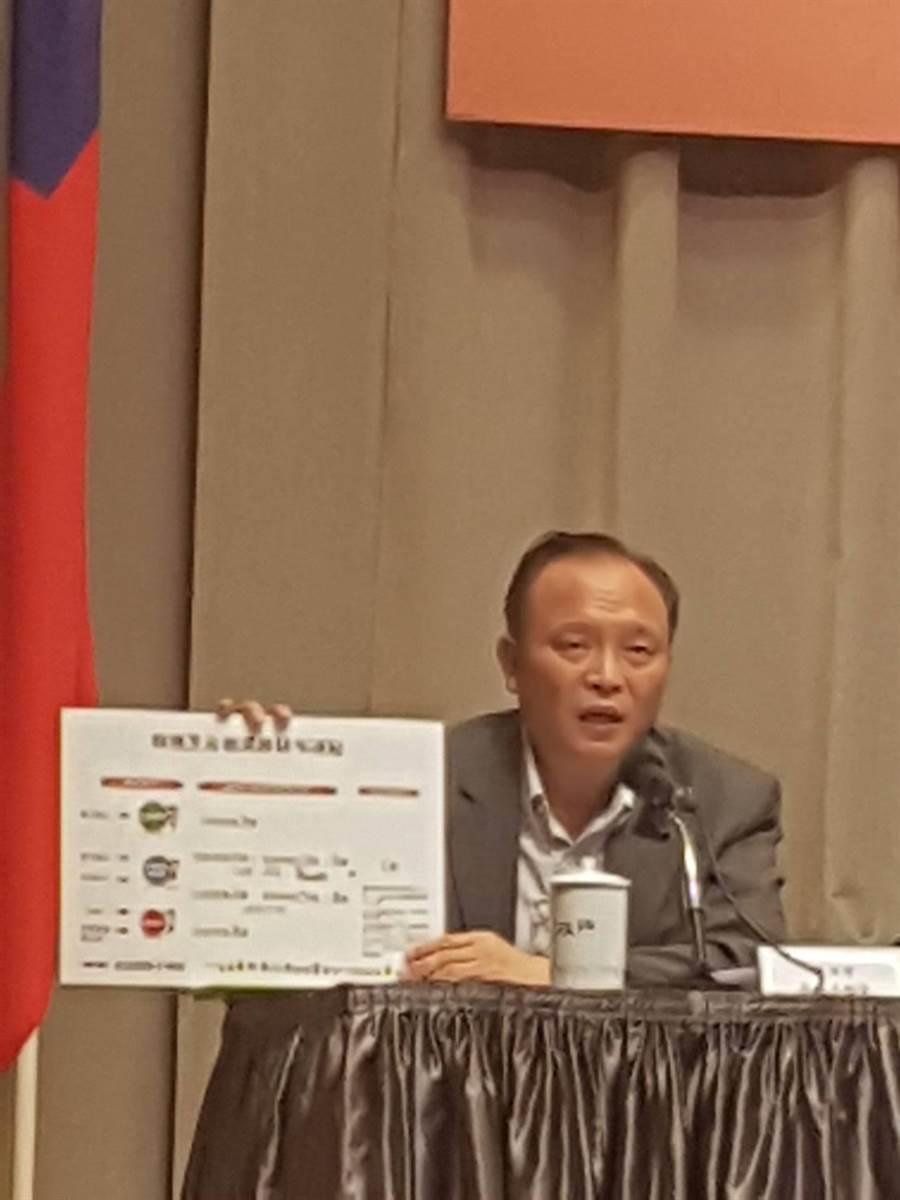 農委會主委林聰賢說明有機農業專法。(呂雪彗攝)