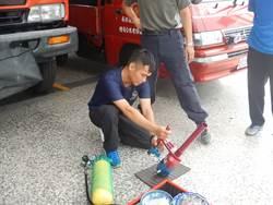 新園消防加強整備工作 嚴範「穿心颱」肆虐
