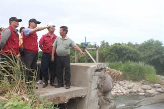 尼莎颱風來襲 朱立倫視察三芝八連溪