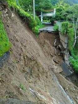 信義鄉示範公墓及垃圾轉運站道路 坍方中斷