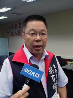台南市10年防洪標準 蔡育輝批規劃錯誤