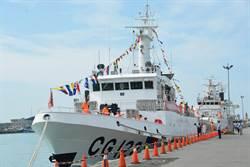 吓阻非法越界渔船 500吨级舰艇出海护航