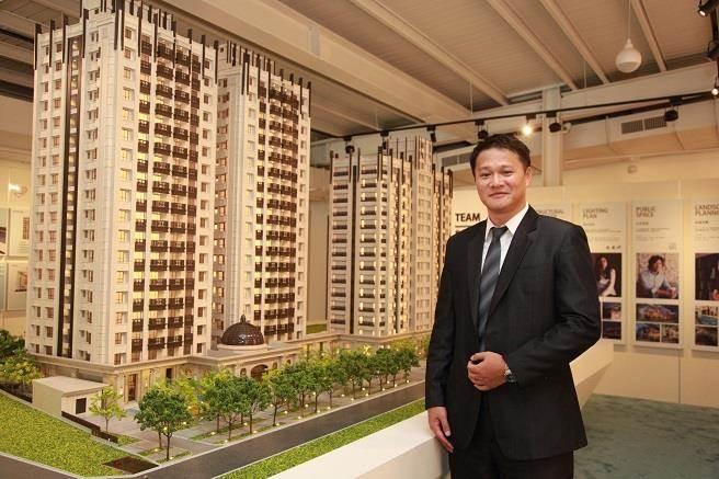 怡華實業董座黃士豪表示,「法吉歐里」佔地2404坪、規劃地上14~18層樓七級制震宅、導入千坪花園、24項度假飯店公設,是宜蘭市中心第一指標案。(圖/廖一德攝)