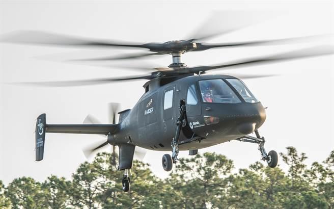 賽考斯基的S-97,有兩層主旋翼,加上尾部推進螺旋槳。(圖/賽考斯基公司)