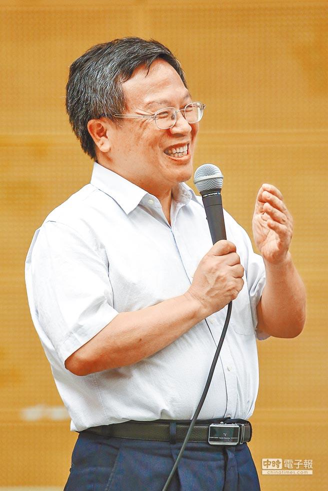 台大代理校長張慶瑞出席致辭。(鄧博仁攝)