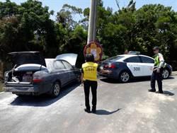 桃市觀音區新坡里守望相助隊成立1周 助警協獲贓車