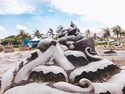 旗津黑沙玩藝節 再添20座沙雕