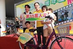 台南T-Bike啟用滿周年 35萬人次使用
