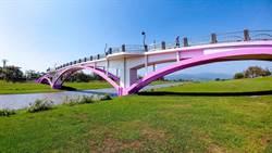 安農溪粉紅鵲橋 三星鄉迎情人節