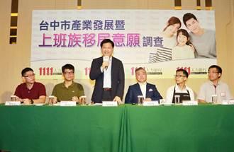 台中市留鄉工作佔比達84.3% 居全台之冠