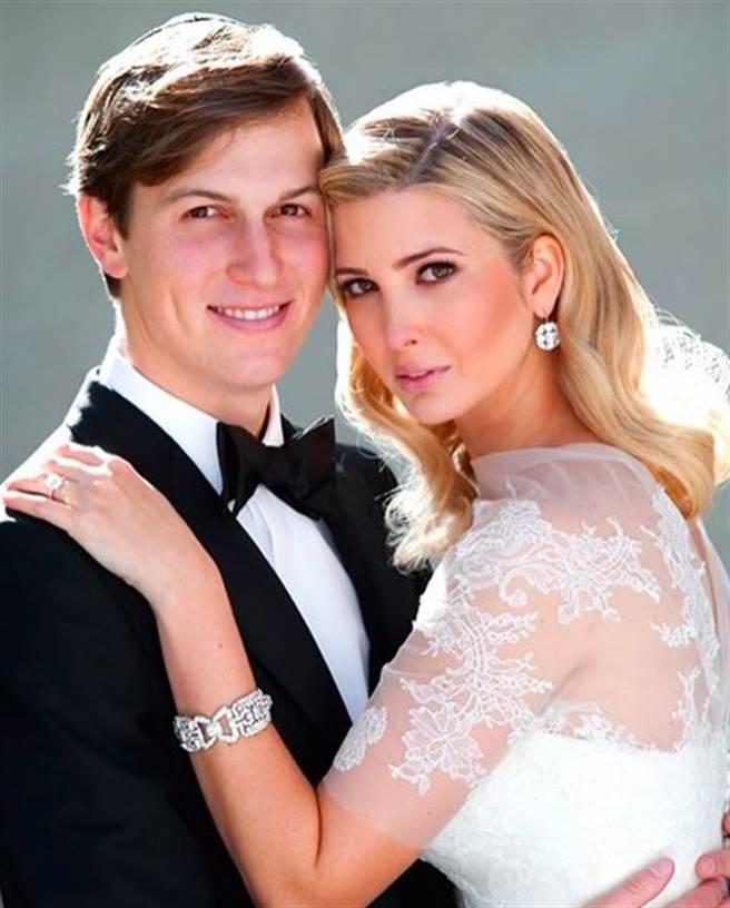 圖為伊凡卡與丈夫庫許納結婚照。(圖/取自網路)