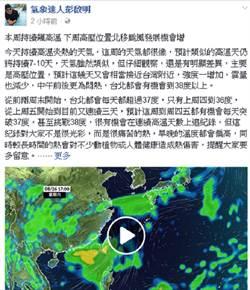 彭啟明:本週挑戰38度 下週颱風發展機會增