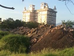 宜縣府工程在羅東運動公園內亂堆廢土  縣府:包商便宜行事