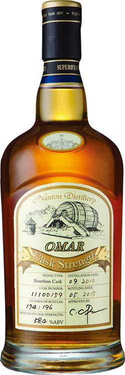 IWSC國際葡萄酒與烈酒競賽 OMAR威士忌 摘下6面獎牌