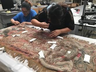 繡品「暫時性加固」技術 搶救早年文物