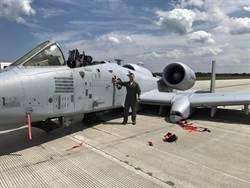 A-10艙罩飛脫機輪放不下 依然成功迫降
