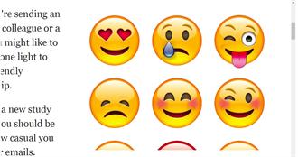 愛在電郵加笑臉圖裝親切 當心被認定專業能力差