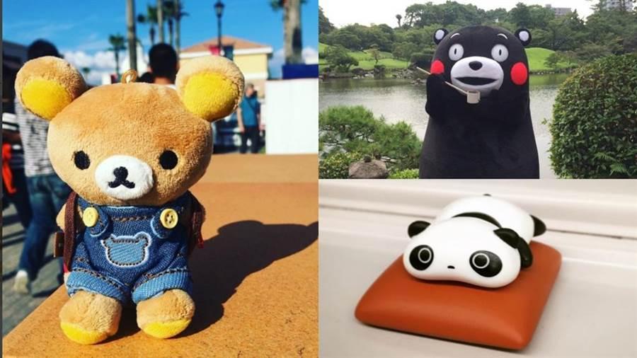 "這三隻經典的可愛熊熊你一定看過(圖/左上至右下IG@rilakkumabigfan、IG@kumako_kumamon、IG@jl9028)"""