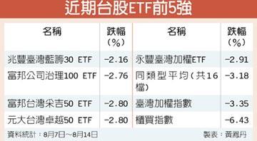 指數漲多回檔 台股ETF投資價值UP