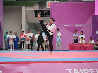 世大運》跆拳道品勢男單陳建銓首登場拿7.99分 可望晉級