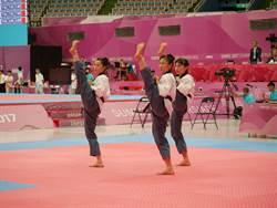 跆拳道品勢男女團排第二 順利晉級