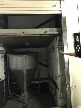 嘉義食品公司貨櫃電梯突故障 3員工輕傷