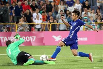 陳柏良梅開二度 男足逆轉勝蒙古