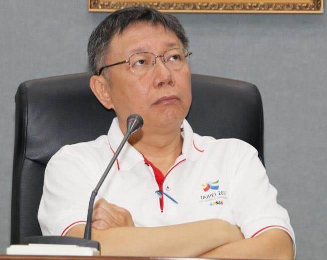 台北市長柯文哲20日就世大運開幕發生的反年改事件召開記者會,狠批擾亂者是「王八蛋」,並強硬表示北市府會嚴格執法,絕不寬貸。(報系資料照 實習記者陳嘉信攝)