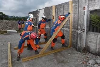 提升震災搜救 7縣市特搜隊演練36小時不間斷