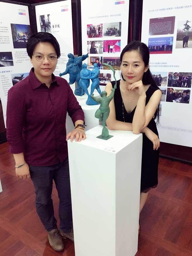 本次展覽是由來自台灣的清華大學在讀博士董子瑗及大陸青年劉宣辰共同策展 。(主辦單位提供)