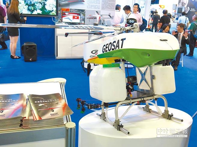 經緯航太ALPAS智慧型精準農業無人機系統。(記者陳政錄攝)