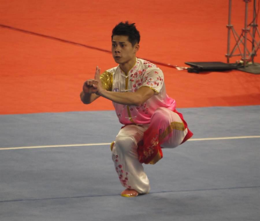 去年台北世大運奪得武術男子長拳銅牌的蔡澤民,本屆亞運會有機會替中華代表團摘首金。(陳育賢攝/資料照)