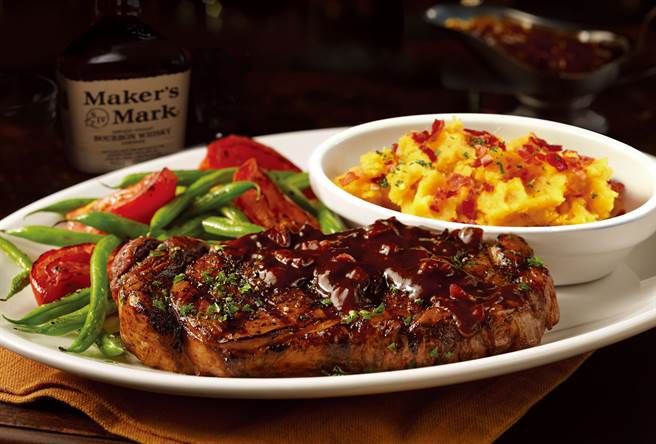 波本威士忌肋眼牛排(Bourbon BBQ Ribeye) ,NT990 (圖/TGI FRIDAYS)