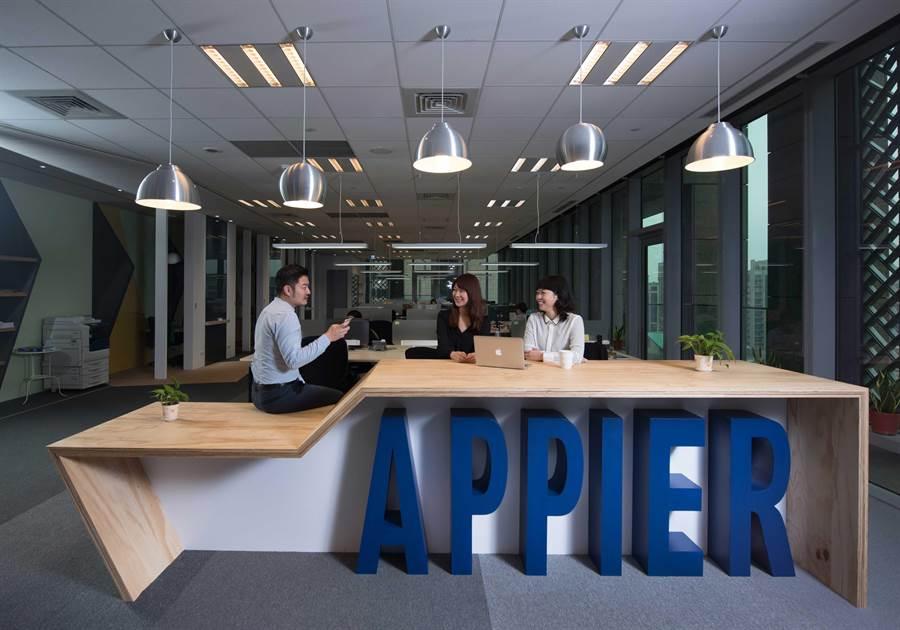 Appier台北辦公室;除了位於台灣的研發中心,Appier也將在新加坡成立研發團隊。