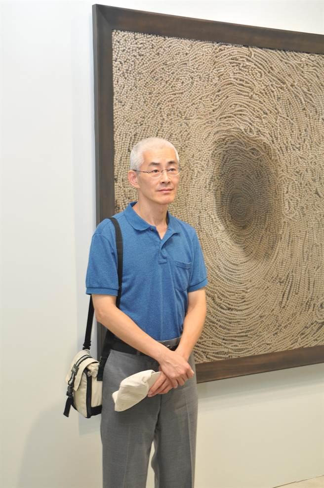 顧何忠《揭露‧存在》在毓繡美術館舉辦,展現寂靜、禪定的氛圍。(廖肇祥攝)