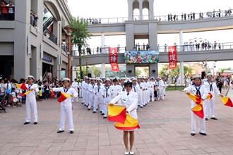 慶祝軍人節 海軍艦隊表演熱舞