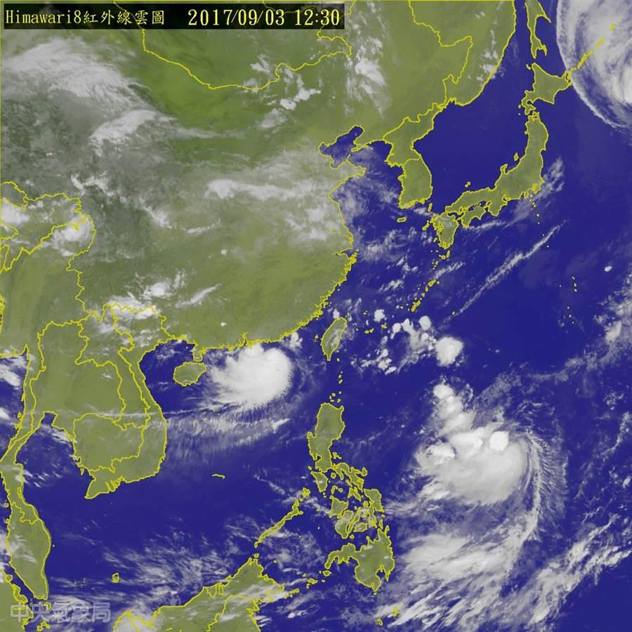 本周末將有今年秋天第一股東北風到來,北台灣將感受到氣溫轉涼。 (圖/中央氣象局)