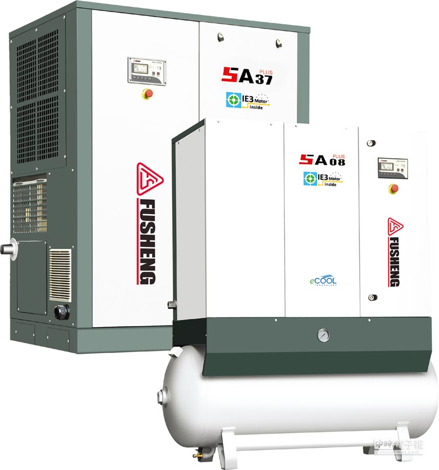 復盛「固定轉速迴轉式空氣壓縮機」在設備效能上,符合政府補助要求。圖/業者提供