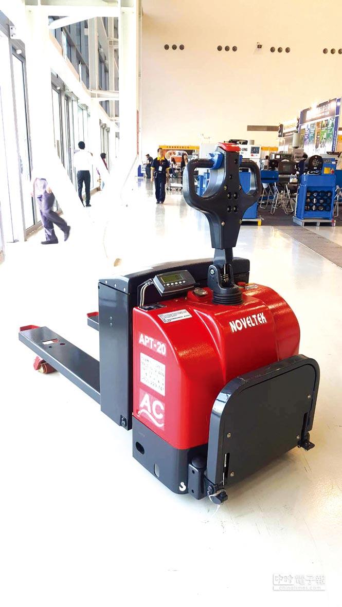恆智重機台北國際自動化工業大展推出磅秤型電動拖板車亮麗登場。圖/業者提供