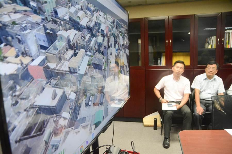 市府已完成大林蒲、鳳鼻頭空拍影像地圖,掌握當地建物狀況,避免後續出現增建、搶建爭議。(林宏聰攝)