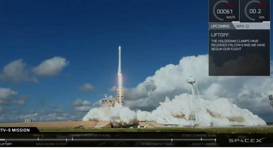 無人太空梭X-37B在9月7日以獵鷹9號火箭發射升空。(圖/SpaceX)