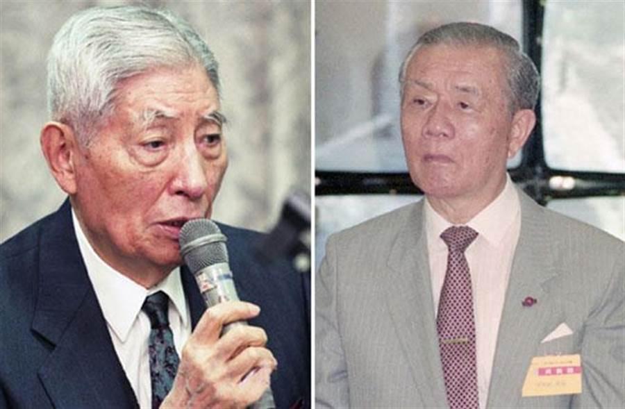 李國鼎(圖左)是台灣科技產業的重要推手,有台灣「科技教父」之稱;圖右為擁有「永遠的行政院長」之稱的孫運璿。(本報系資料照)