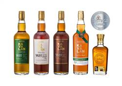 酒屆「台灣之光」 金車噶瑪蘭威士忌18款酒IRS得金獎