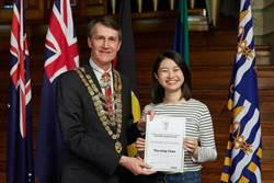 大葉護理系同學赴澳攻讀  獲布里斯本市長接見