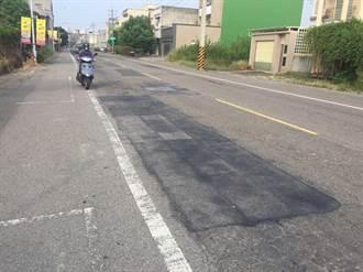 朴子四維路「吊膏」 被酸嘉義最爛道路