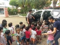 幼童參訪初體驗 直呼「我要當警察!」